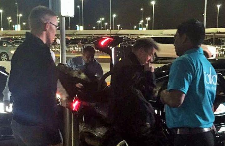 Delegates arrive at Abu Dhabi airport