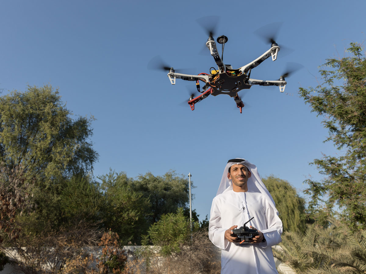 Mohammad Al-Shamsi and a drone