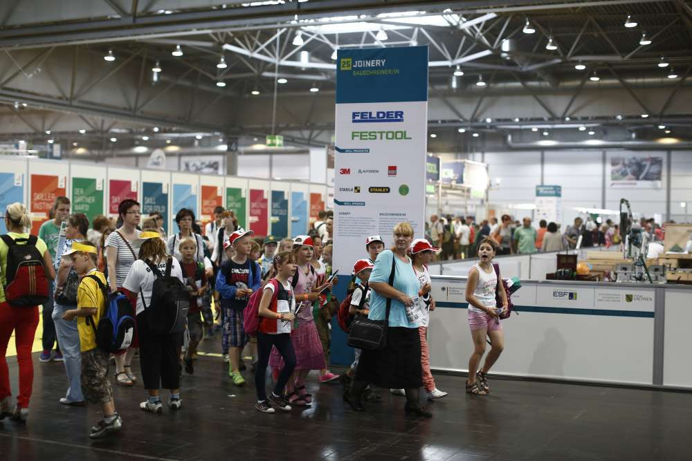 Children visit the WorldSkills Competition in Germany