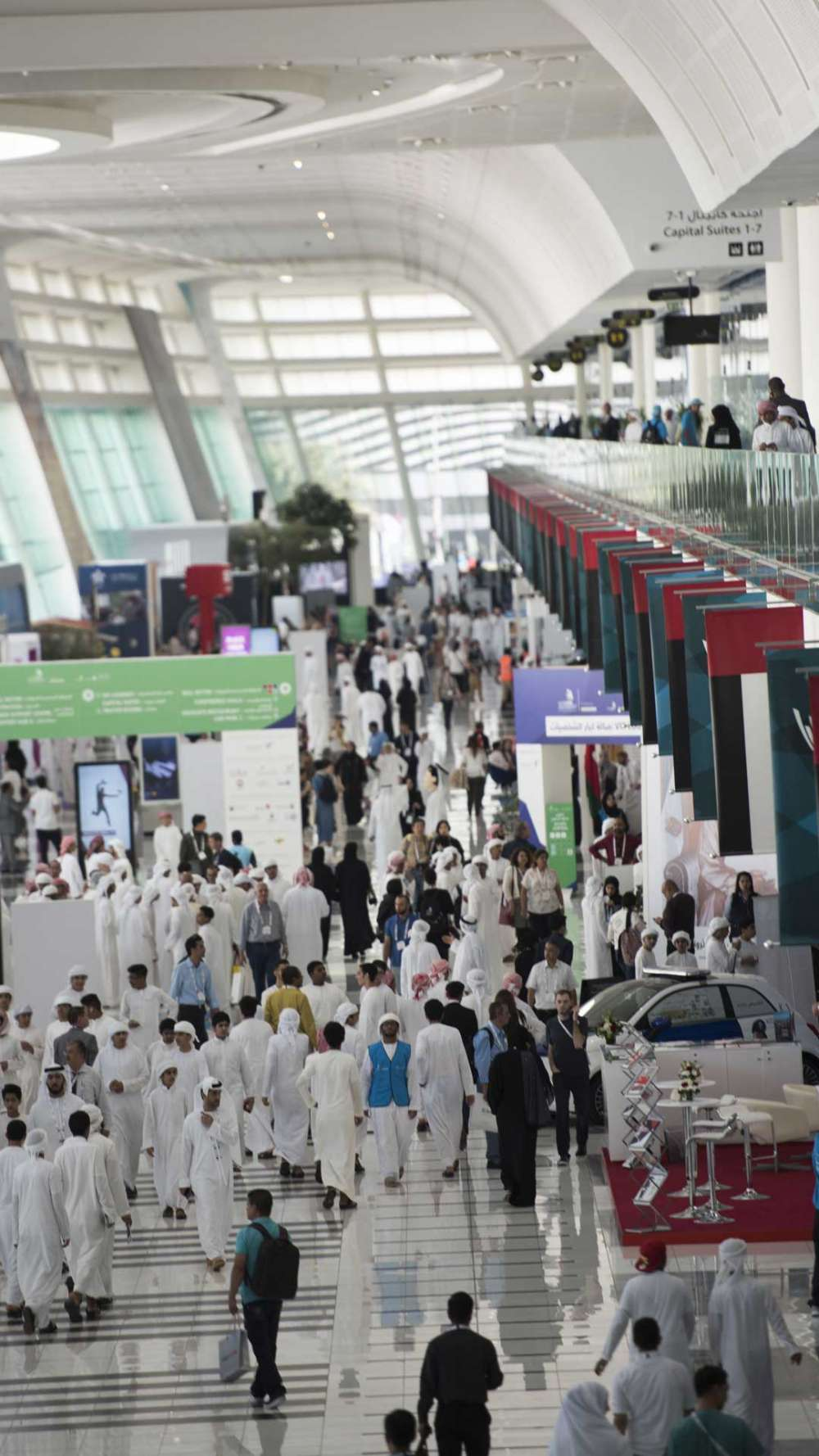 The concourse at ADNEC during WorldSkills Abu Dhabi 2017